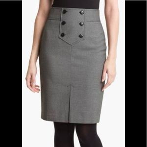Halogen Grey Pencil Skirt